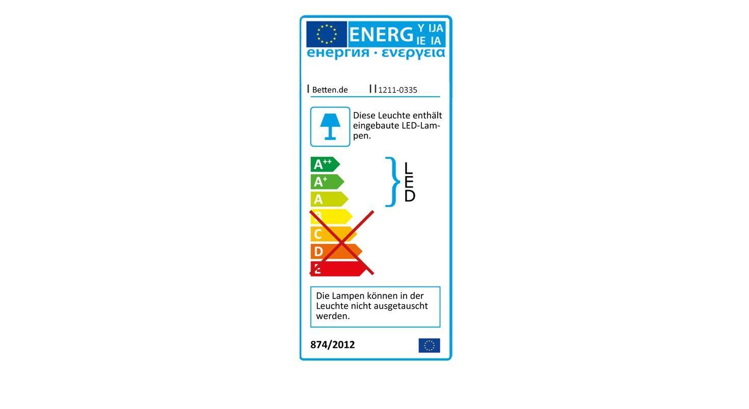 Energieverbrauchskennzeichnung vom Nachttisch Foxley Komfort