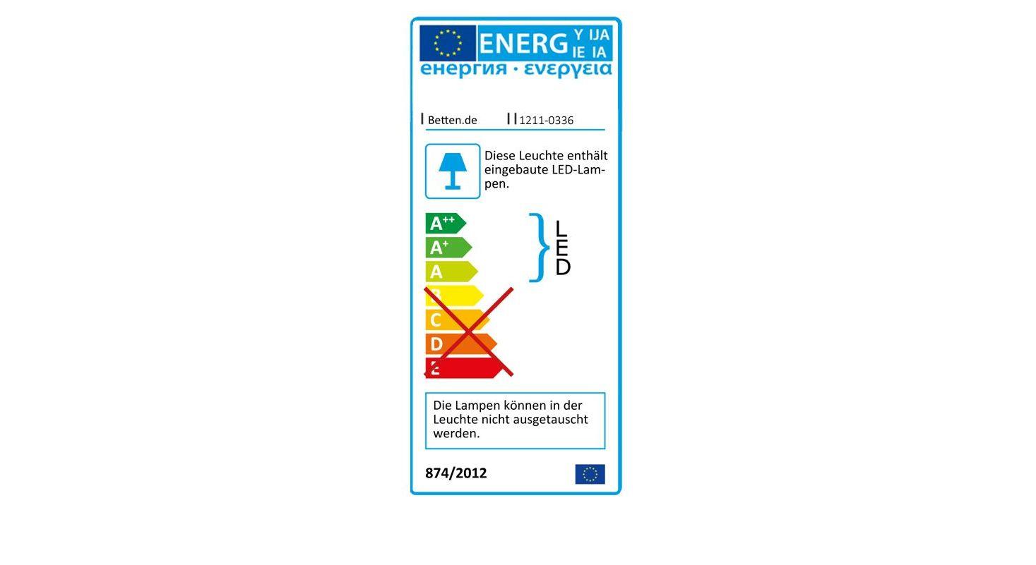 Energieverbrauchskennzeichnung vom Nachttisch Foxley