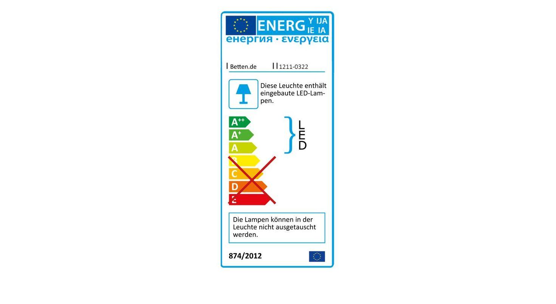 Energieverbruachskennzeichnung vom Nachttisch Mallow