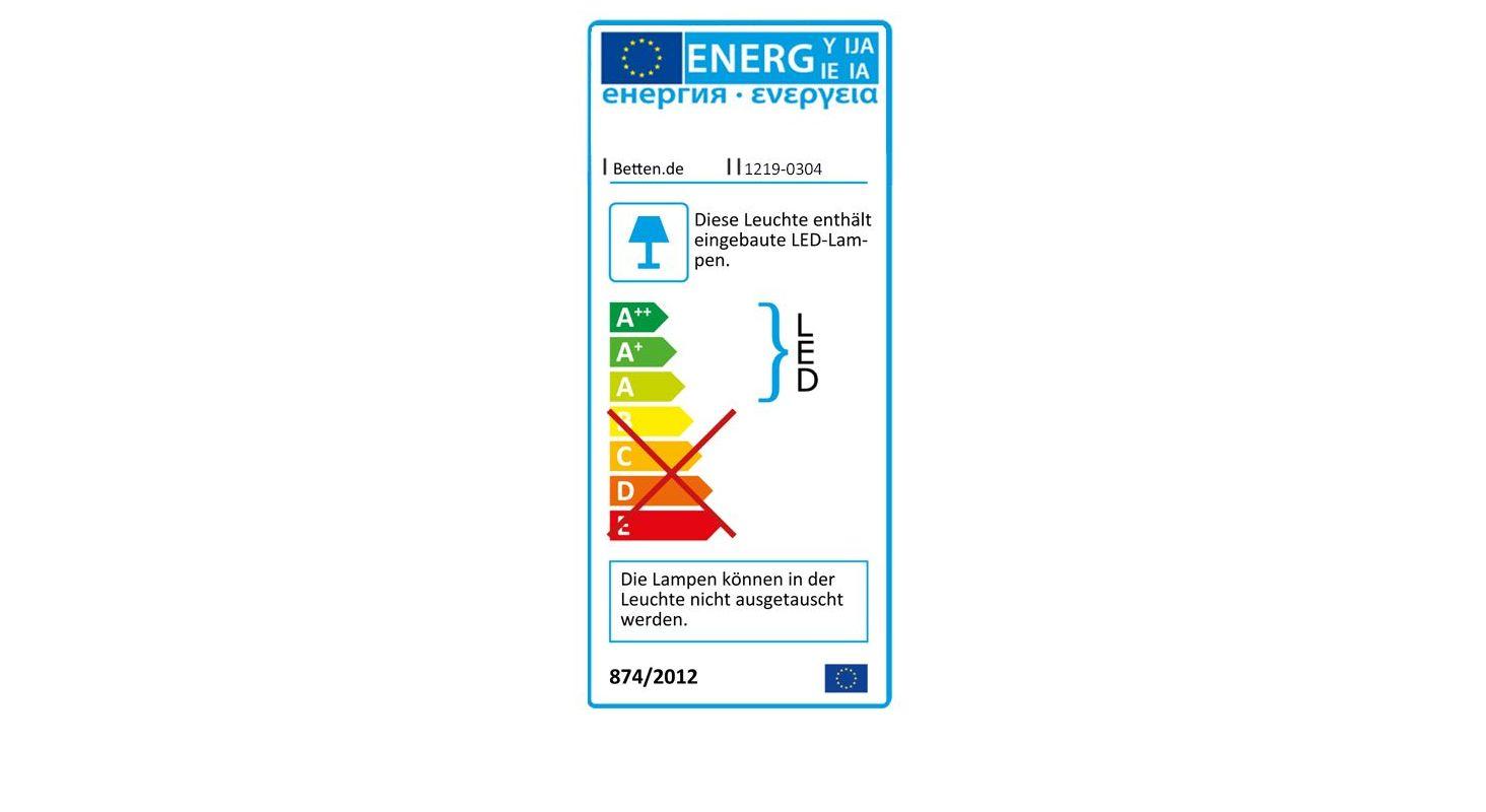 Energieverbrauchskennzeichnung der Lichtschiene Pelham