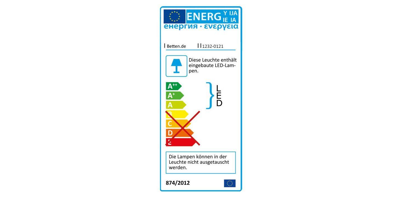 Energieverbrauchskennzeichnung vom Spiegel-Kleiderschrank Butaco