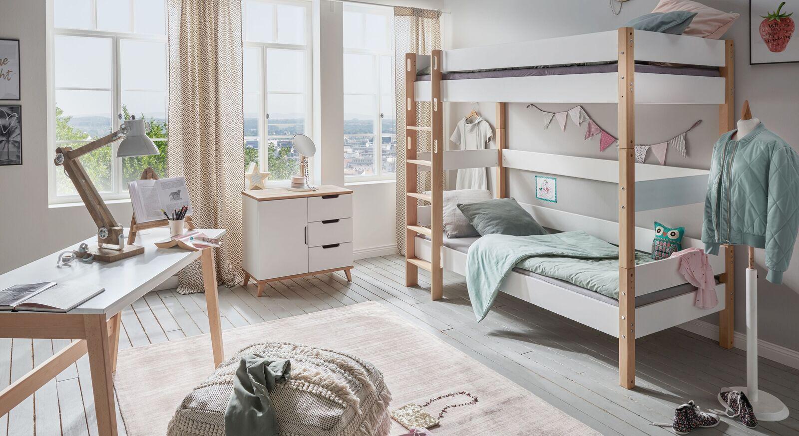 Etagenbett Kids Nordic Girld mit zwei Schlafplätzen