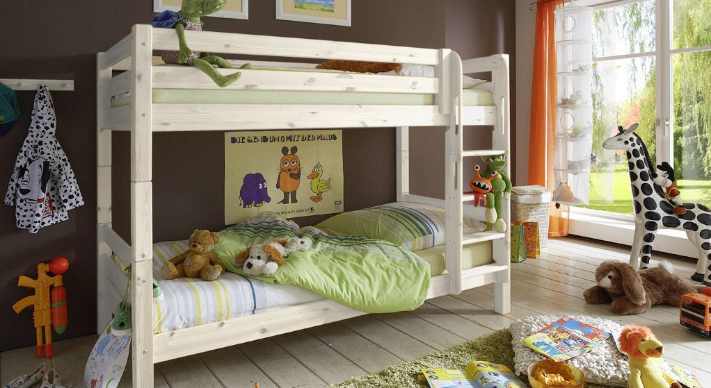 Etagenbett Teilbar Metall : Etagenbett für kinderzimmer aus kiefer kids paradise