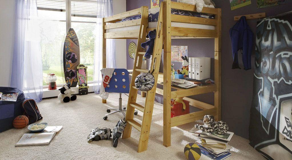 hochwertiges Etagenbett Kids Paradise mit schöner stabiler Schrägleiter