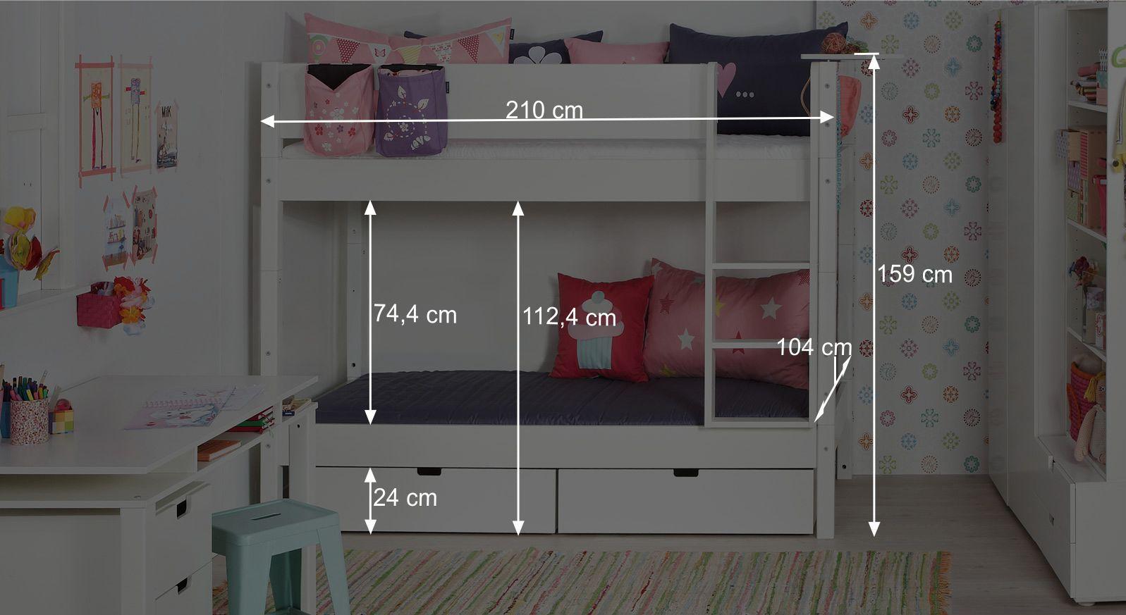 Etagenbett Delinea : TÜv geprüftes kinder etagenbett aus buche und mdf kids town