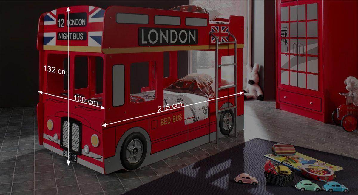 Etagenbett Bus : Auto etagenbett in rot als london doppeldecker paddington