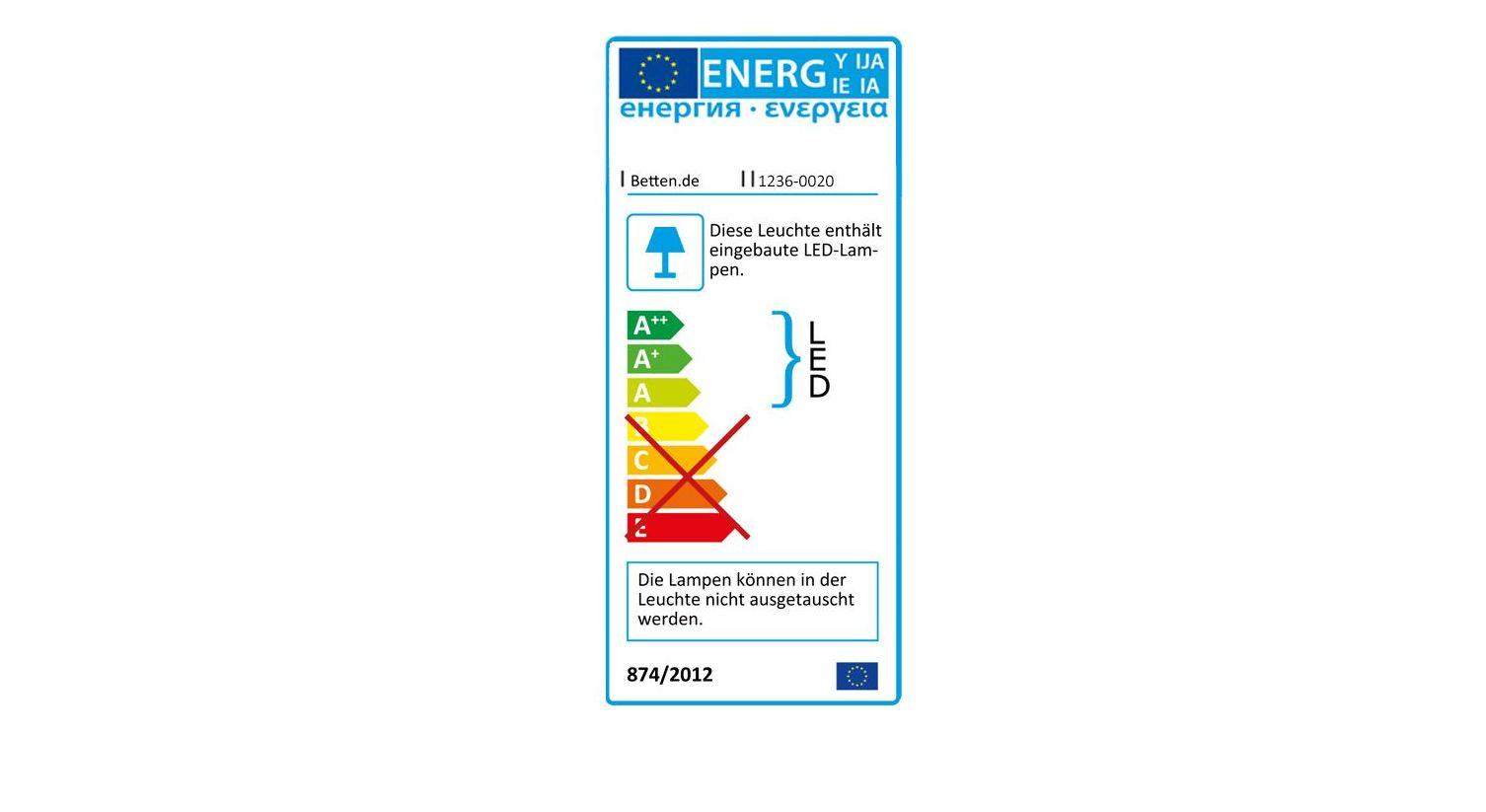 Falttüren-Kleiderschrank Northvilles Energieverbrauchskennzeichnung
