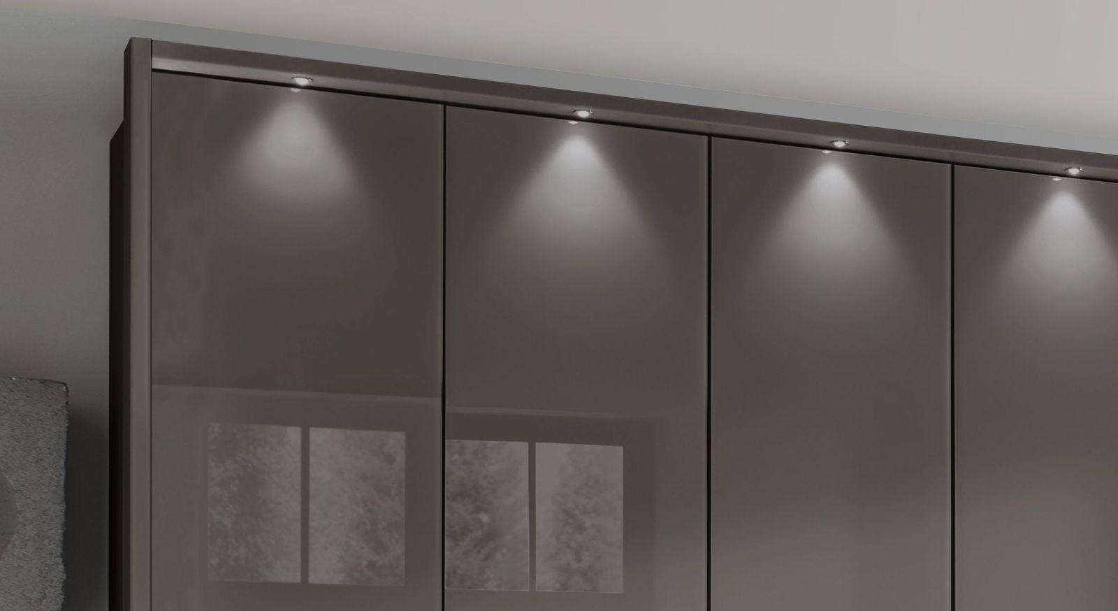 Falttüren-Kleiderschrank Southville mit optionaler Beleuchtung