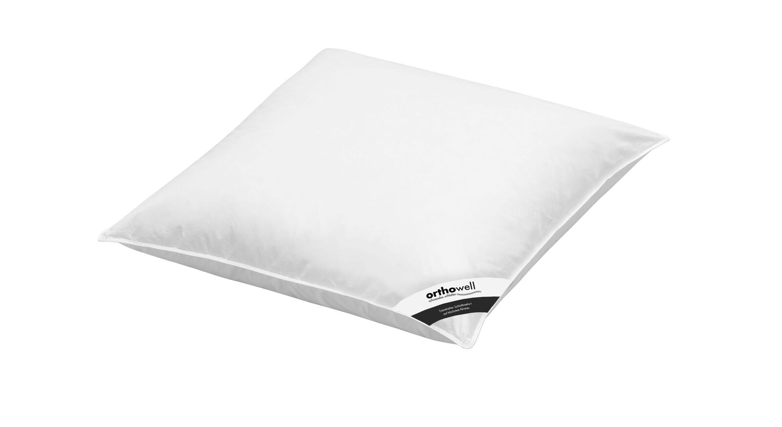 Faser-Kissen orthowell Premium in 80x80 cm mit Baumwollbezug