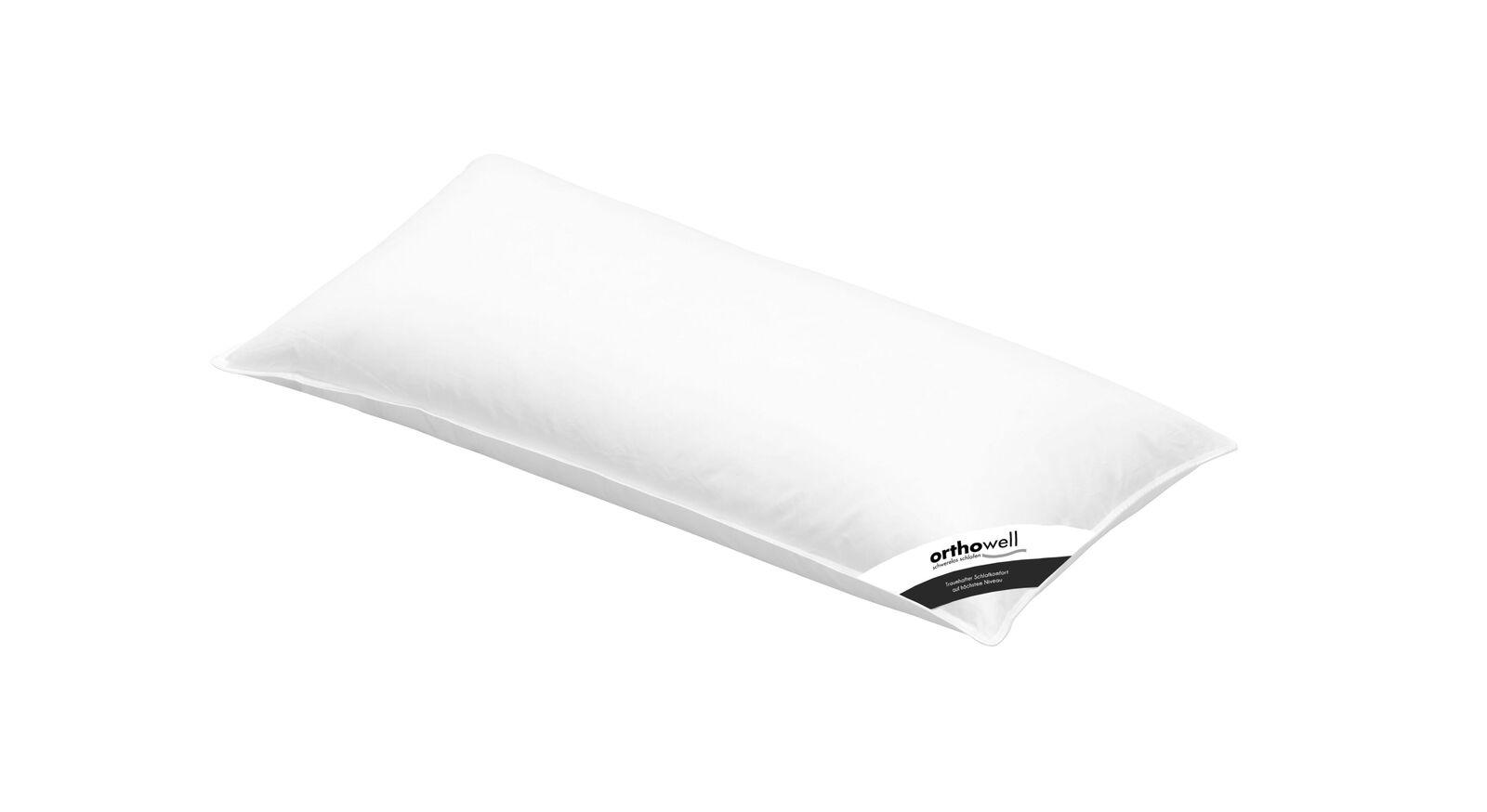 Faser-Kissen orthowell Standard mit ungestepptem Bezug in 40x80 cm