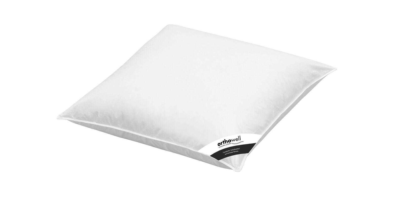 Faser-Kissen orthowell Standard mit ungestepptem Bezug in 80x80 cm