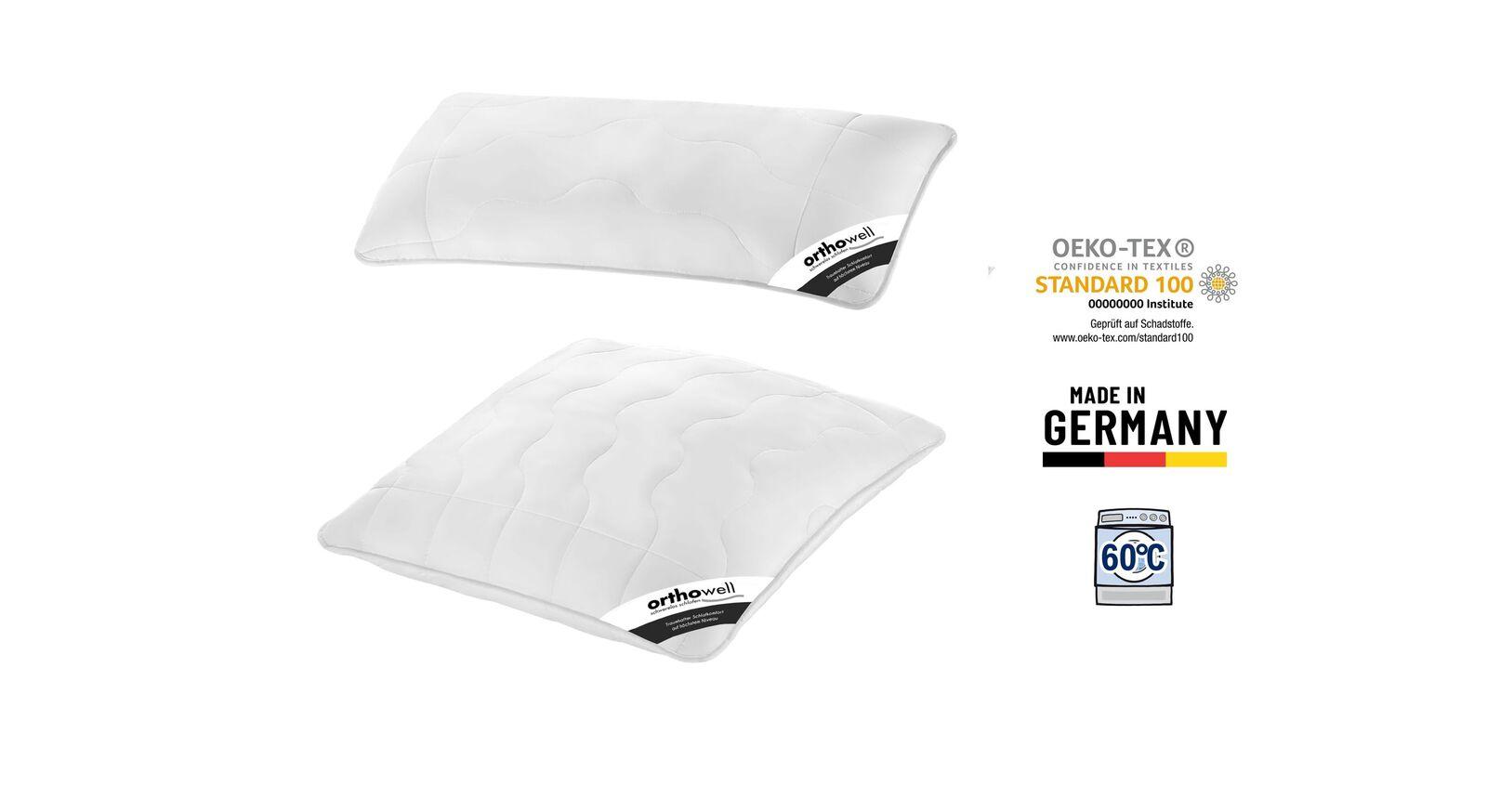 Zertifiziertes Faserkissen orthowell Standard