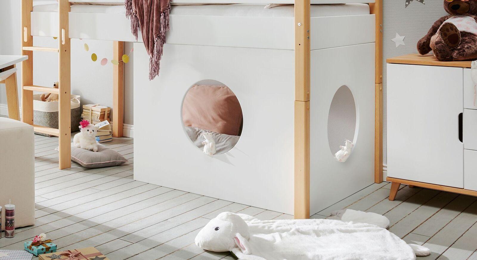 Modernes Fensterelement Kids Nordic in Weiß
