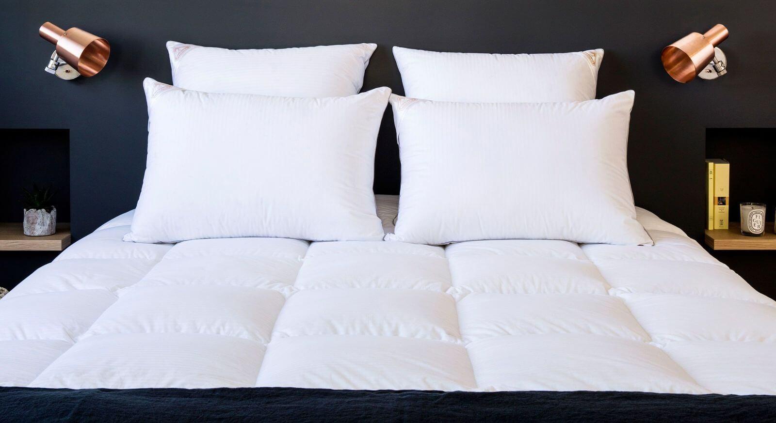 welche f llmaterialien werden zur fertigung von bettwaren verwendet. Black Bedroom Furniture Sets. Home Design Ideas
