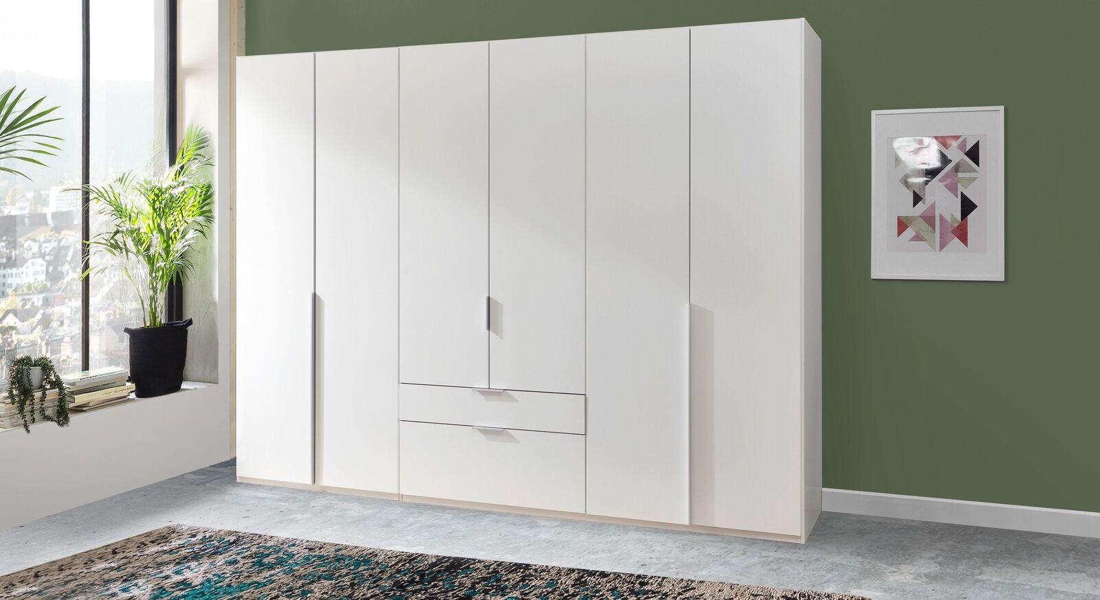 Preiswerter Funktions-Kleiderschrank Ceprano in Weiß