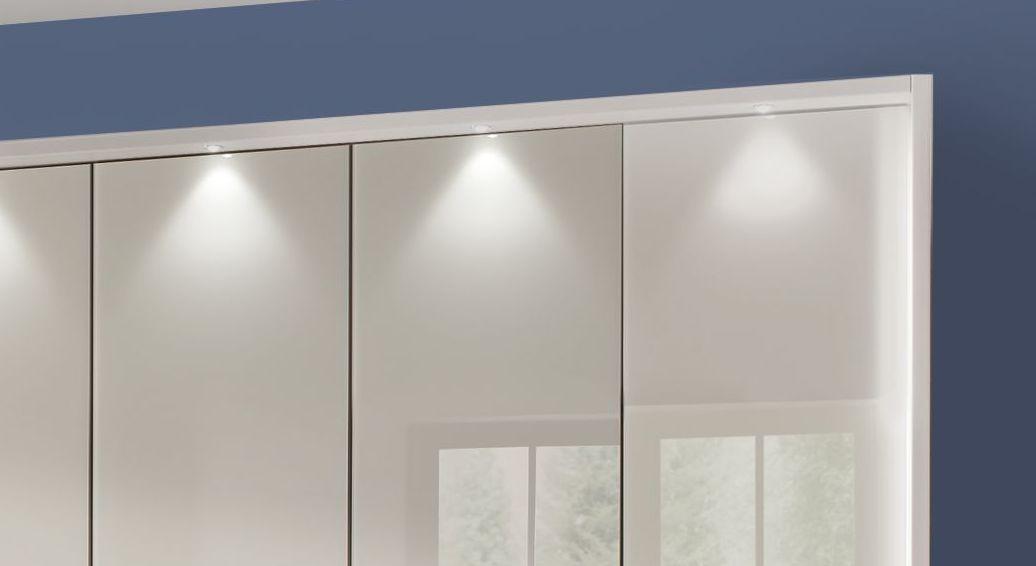 Funktions-Kleiderschrank Elmira mit sparsamer Spot-Beleuchtung