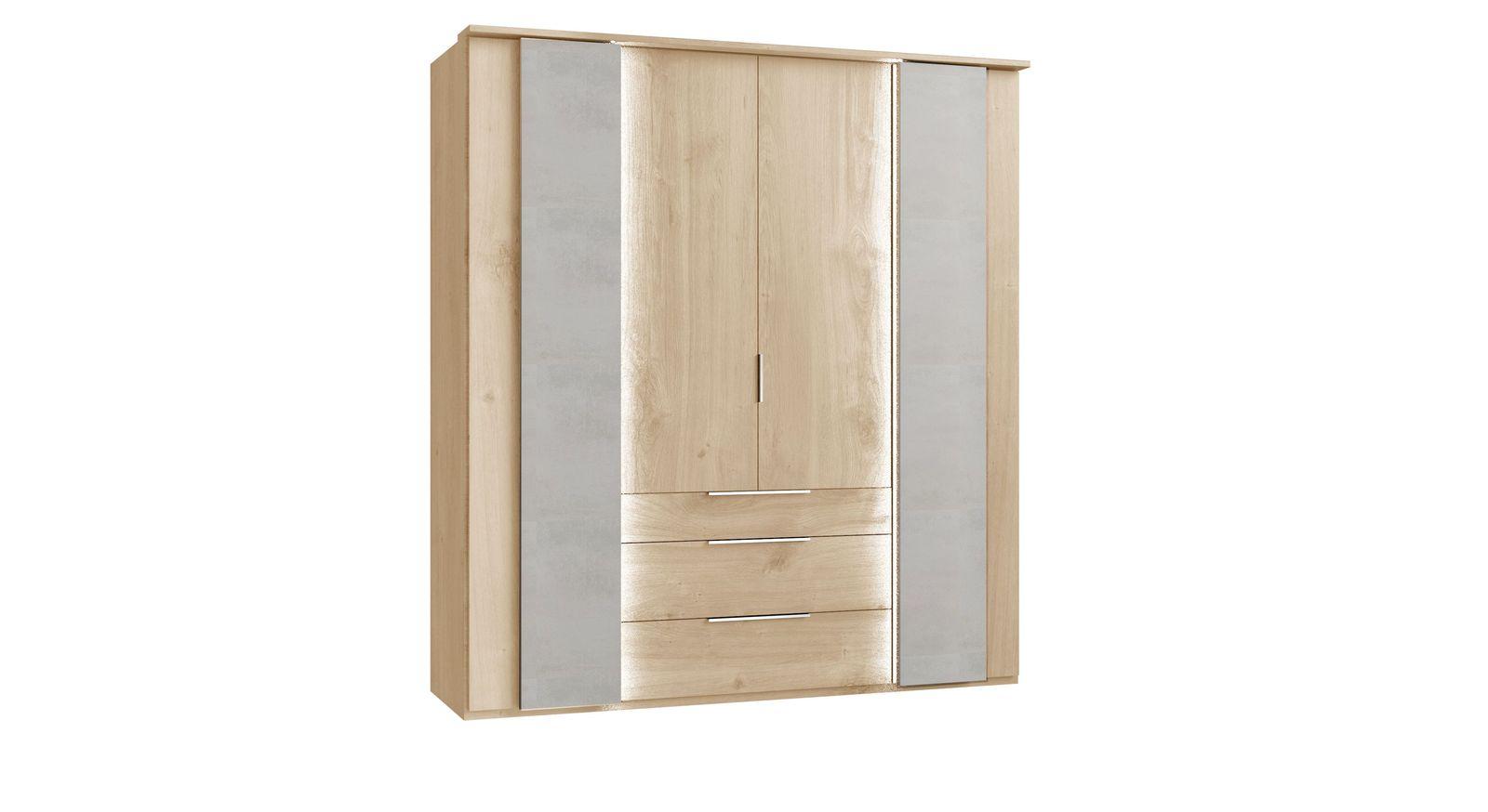 Funktions-Kleiderschrank Hayward mit Koffertüren inklusive Beleuchtung