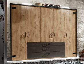 Funktions-Kleiderschrank Lakewood im Factory-Look