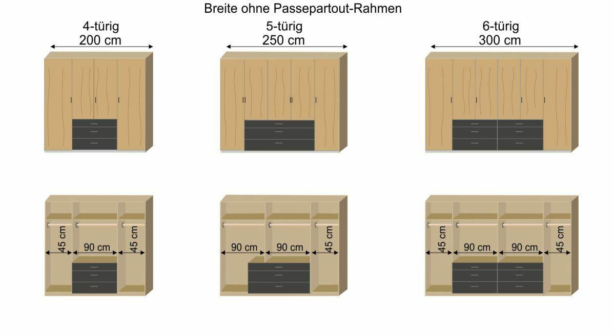 Grafik zur Innenausstattung des Funktions-Kleiderschranks Lakewood