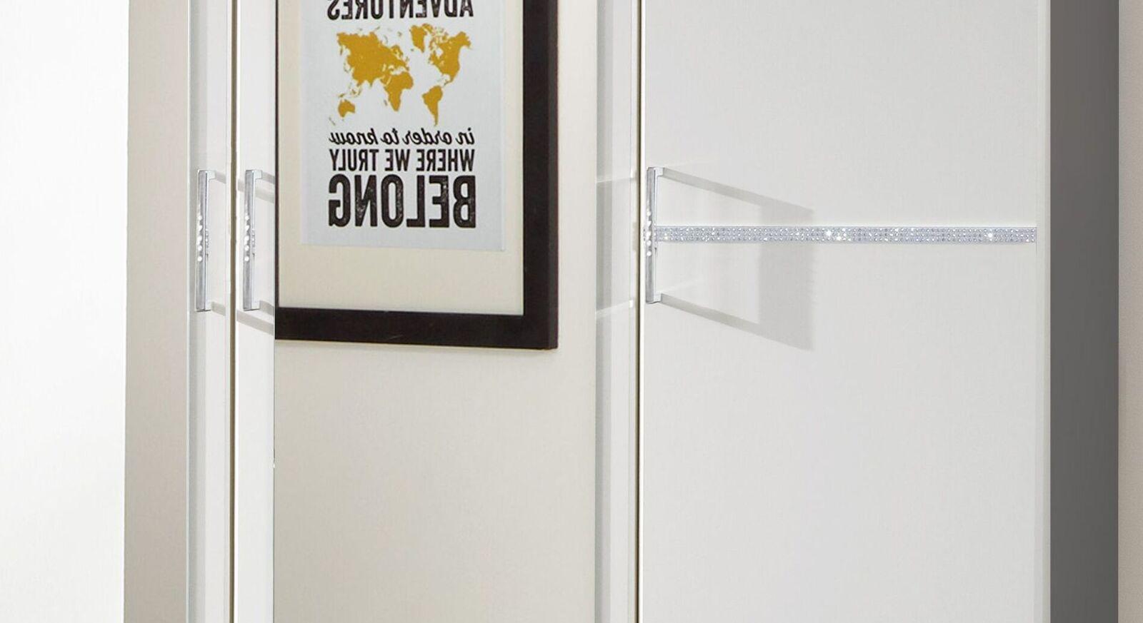 Funktions-Kleiderschrank Lari mit glänzender Zierleiste