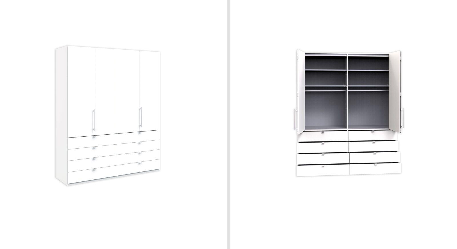 Funktions-Kleiderschrank Salford 200 cm mit Auszügen links und rechts