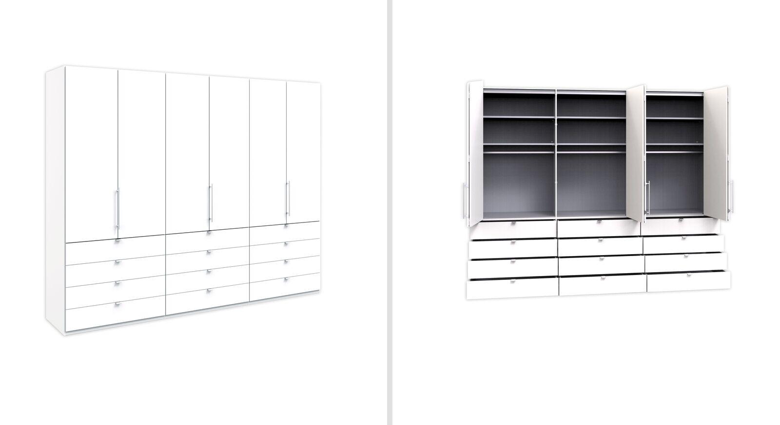 Funktions-Kleiderschrank Salford 300 cm mit Auszügen außen und mittig
