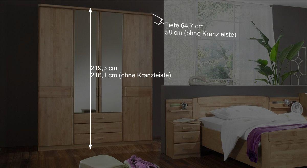 Funktions-Kleiderschrank Sanando optional mit Kranzleiste