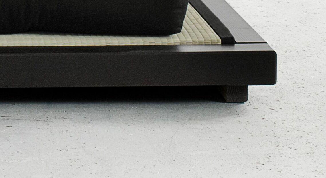 Futonbett Cimini mit niedrigen Bettbeinen