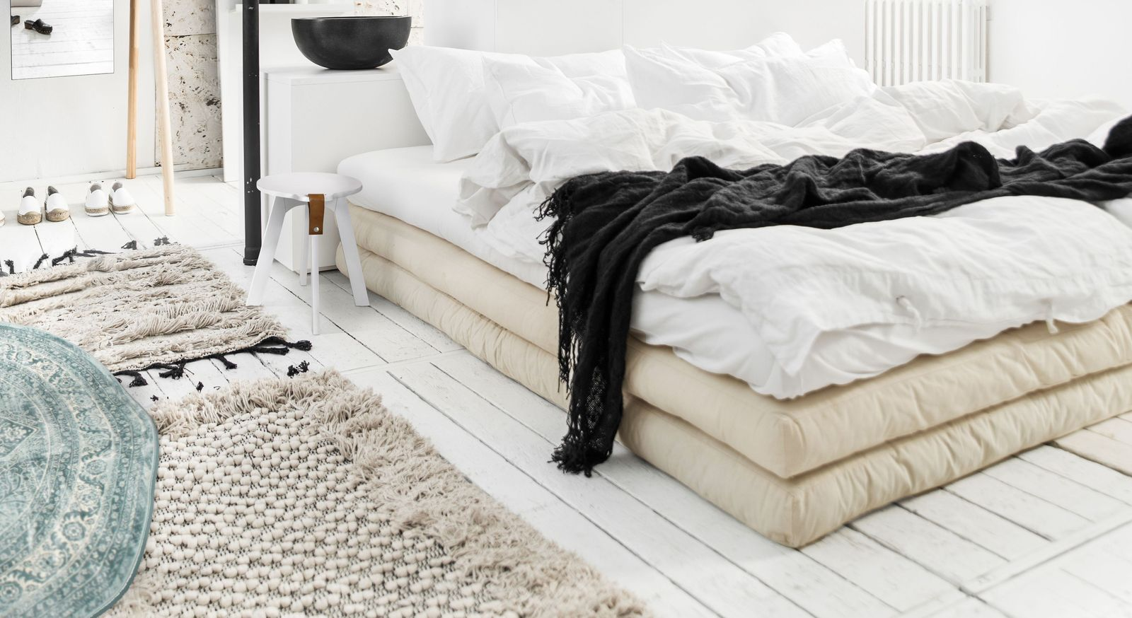 Futonbett Toffia mit komfortablen Matratzen