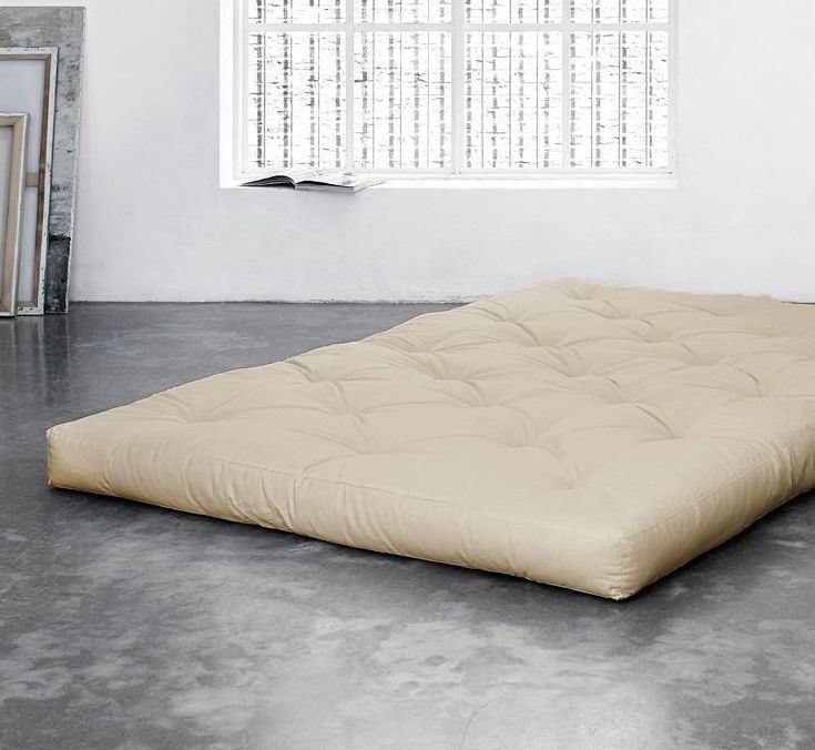 Matratzen farbig  Farbige Futonmatratze günstig aus Baumwolle und Schaum - Basic