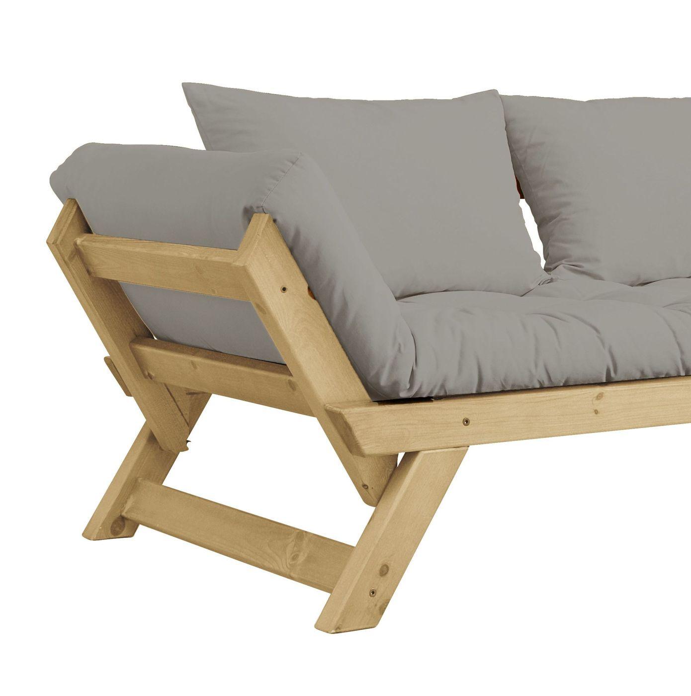 schlafsofa mit futonmatratze und zwei r ckenkissen gariana. Black Bedroom Furniture Sets. Home Design Ideas