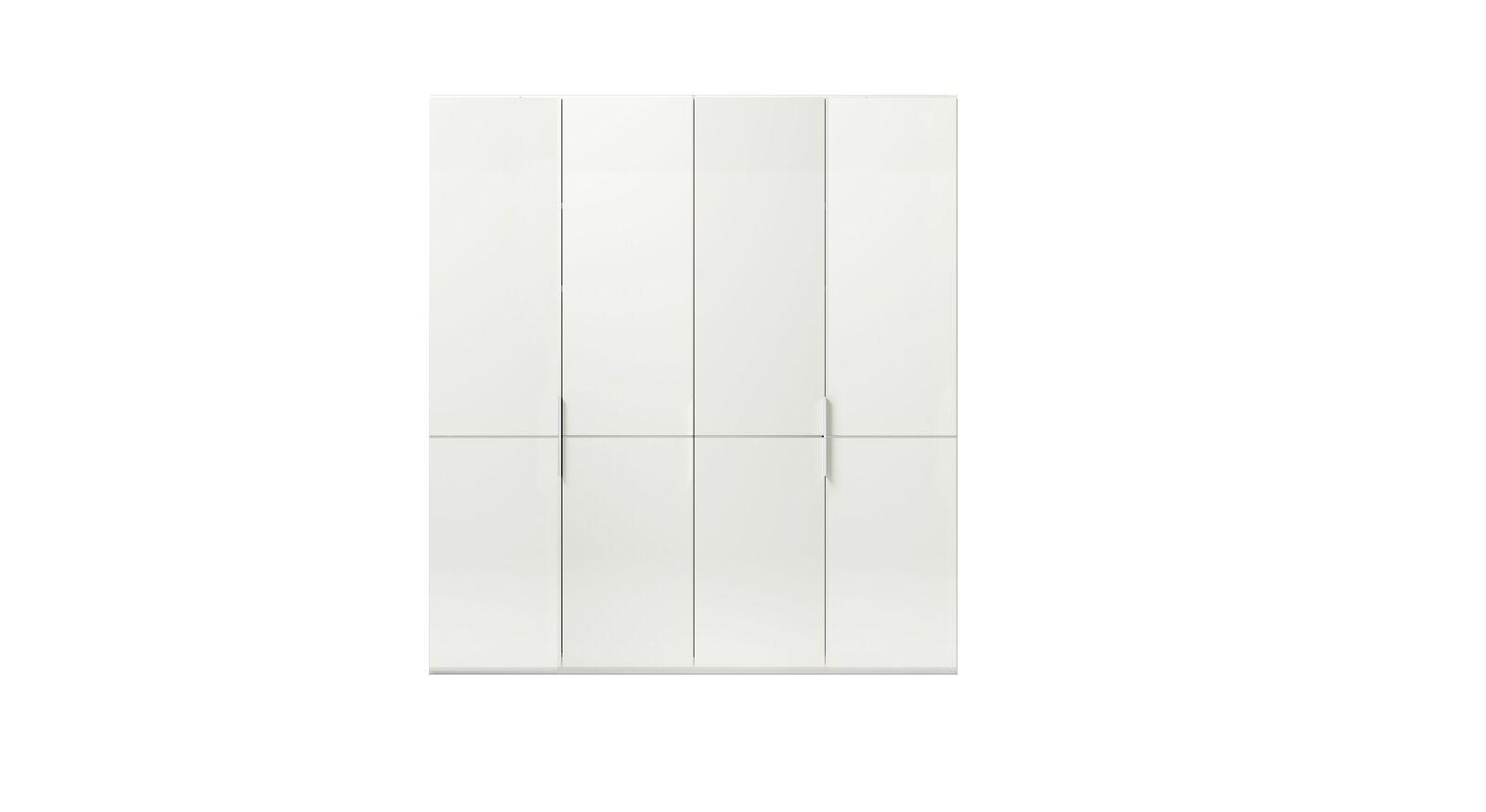 4-türiger GALLERY M Drehtüren-Kleiderschrank IMOLA W Weiß ohne Spiegel