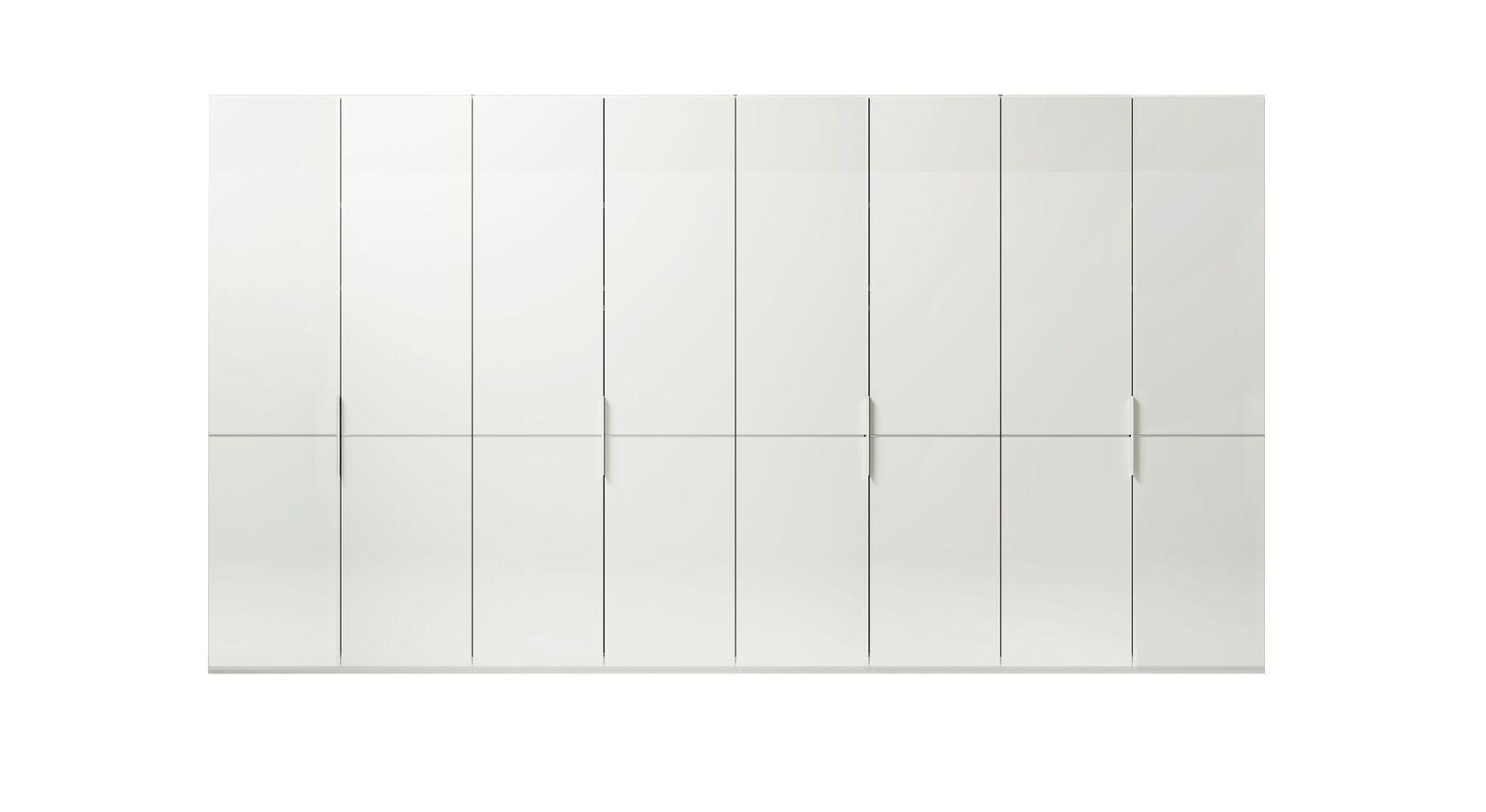8-türiger GALLERY M Drehtüren-Kleiderschrank IMOLA W Weiß ohne Spiegel