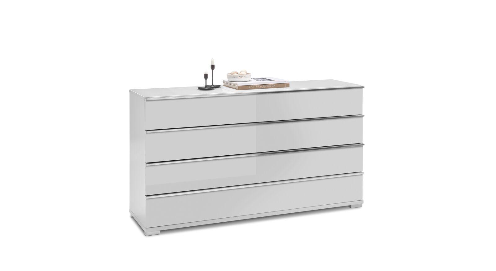 Breite GALLERY M Kommode IMOLA W in Weiß mit 4 Schubladen