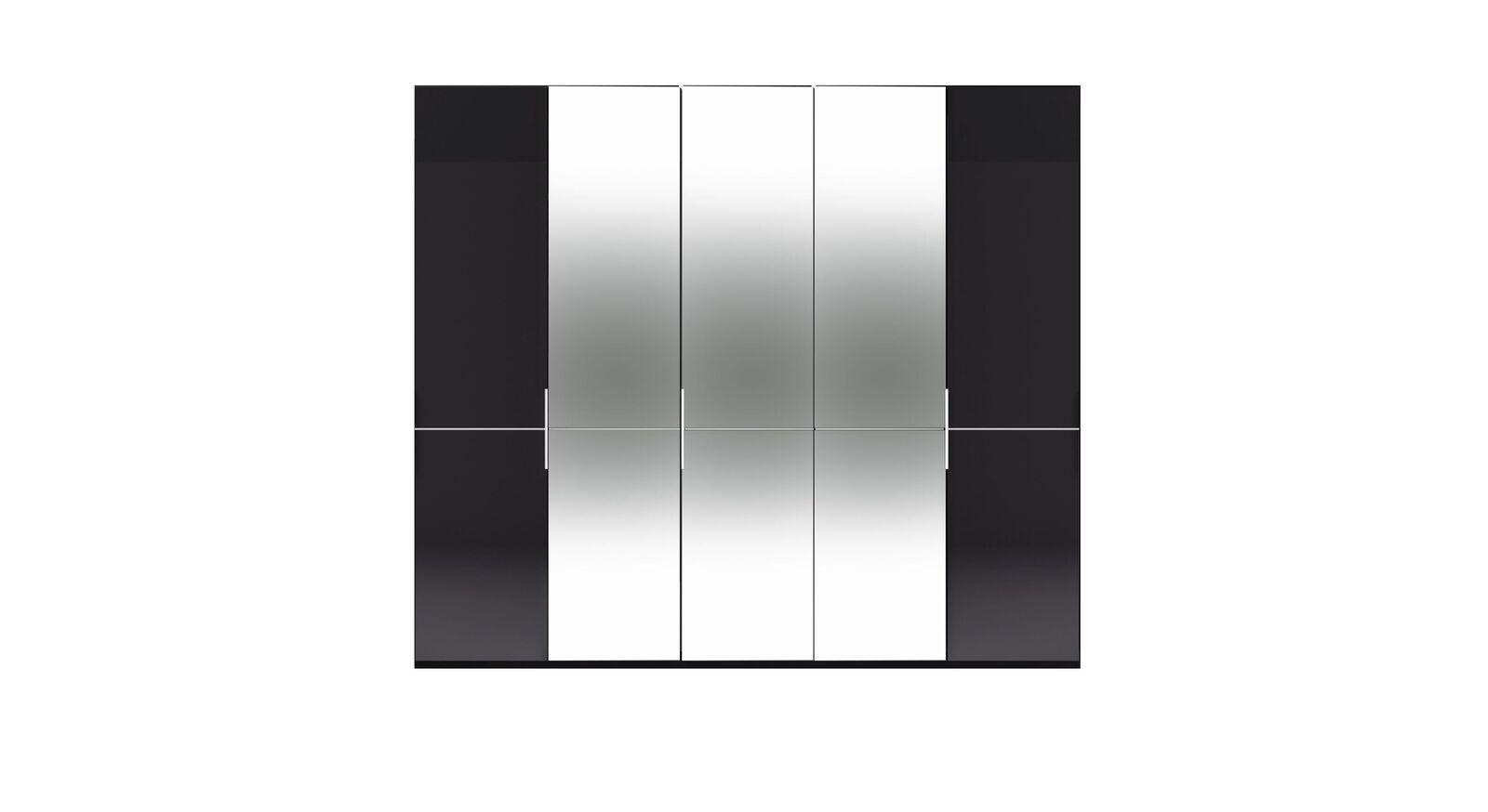 5-türiger GALLERY M Spiegel-Drehtüren-Kleiderschrank IMOLA W Graphit ohne Spiegel