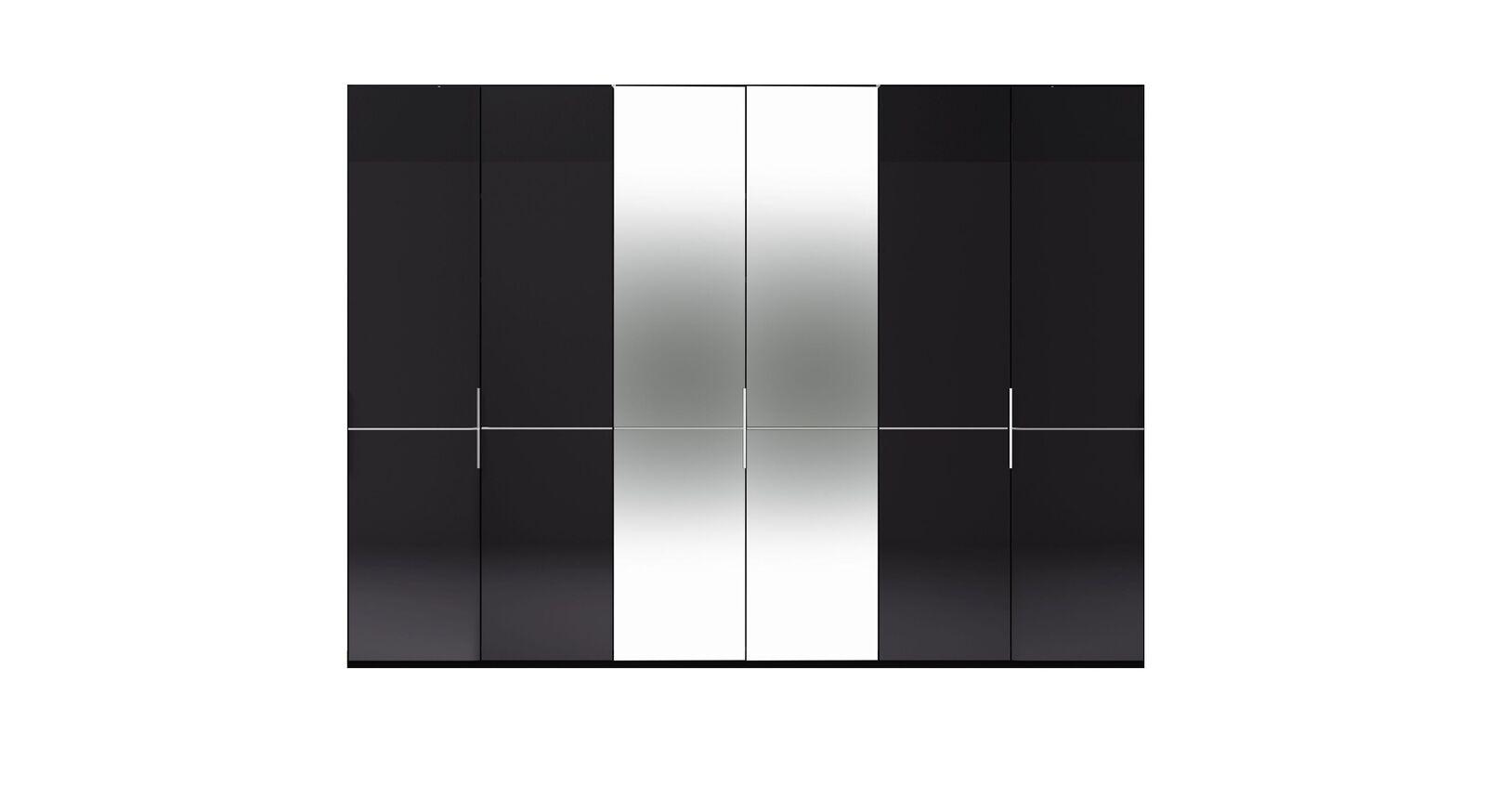 6-türiger GALLERY M Spiegel-Drehtüren-Kleiderschrank IMOLA W Graphit ohne Spiegel