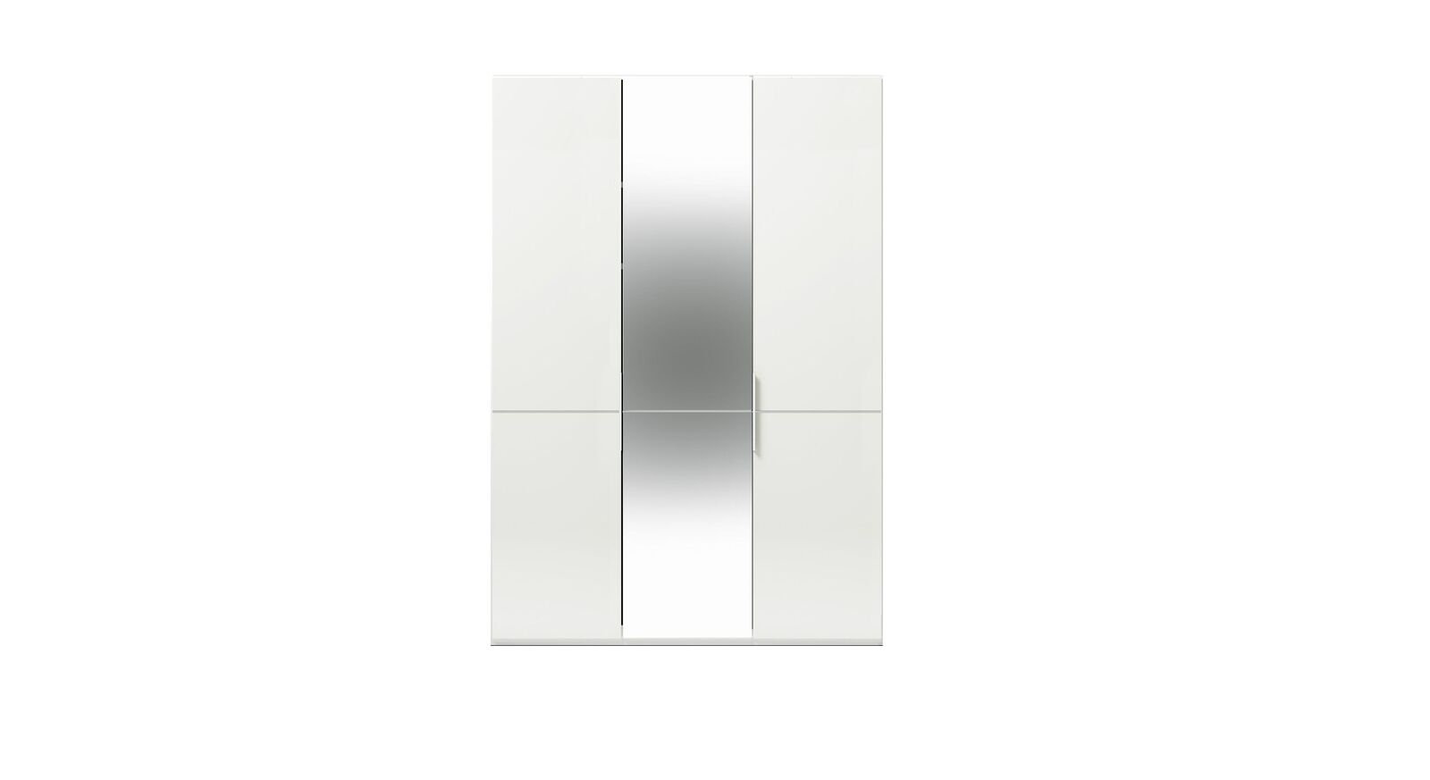 3-türiger GALLERY M Spiegel-Drehtüren-Kleiderschrank IMOLA W Weiß ohne Spiegel