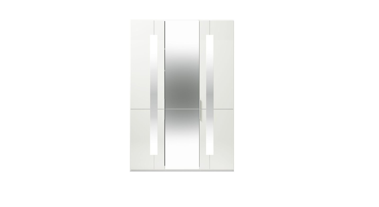 3-türiger GALLERY M Spiegel-Drehtüren-Kleiderschrank IMOLA W in Weiß
