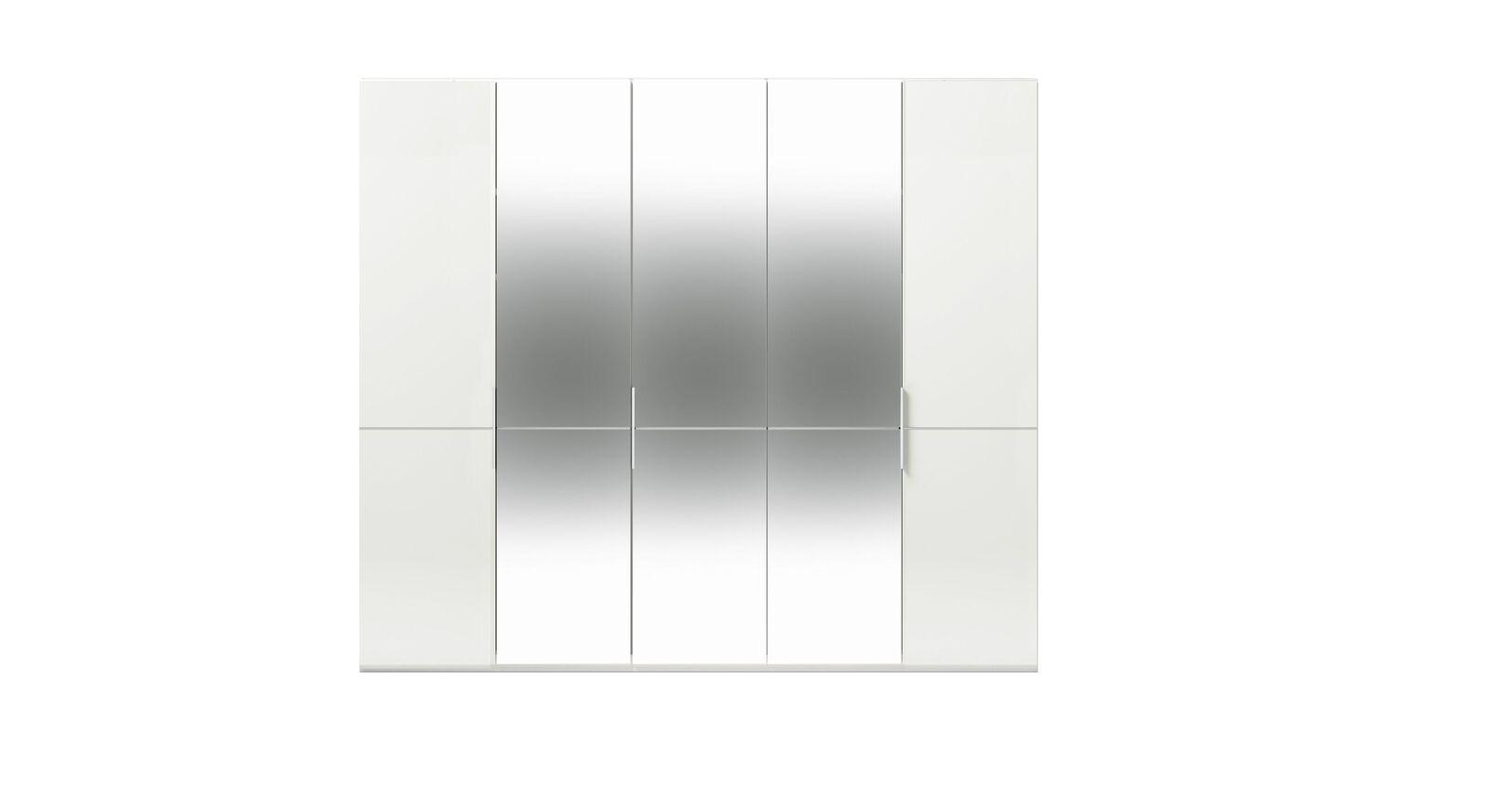 5-türiger GALLERY M Spiegel-Drehtüren-Kleiderschrank IMOLA W Weiß ohne Spiegel