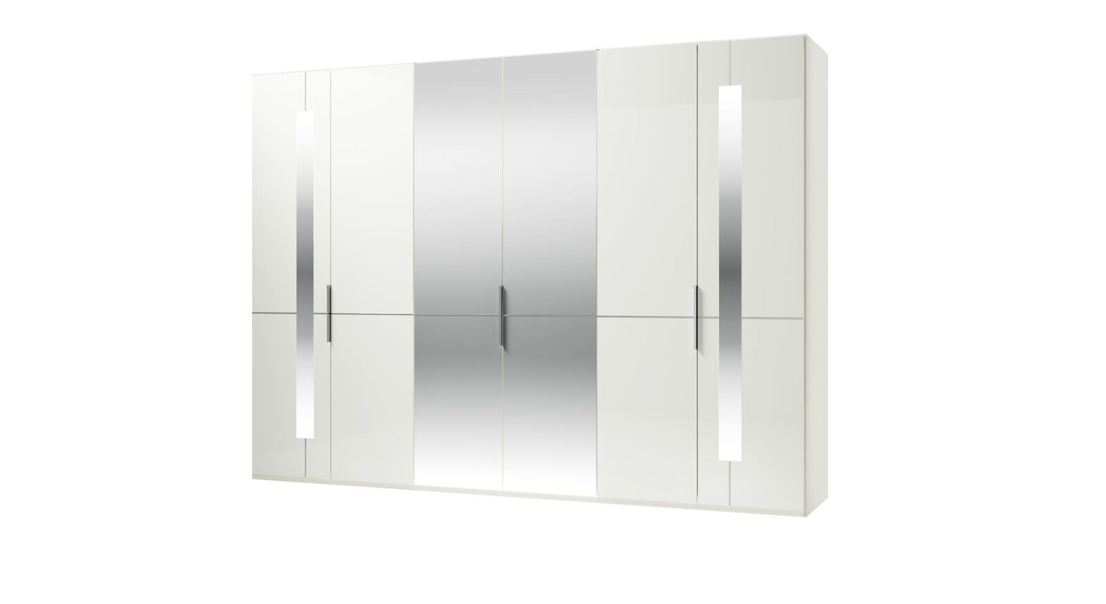 GALLERY M Spiegel-Drehtüren-Kleiderschrank IMOLA W in Weiß mit Zierspiegel