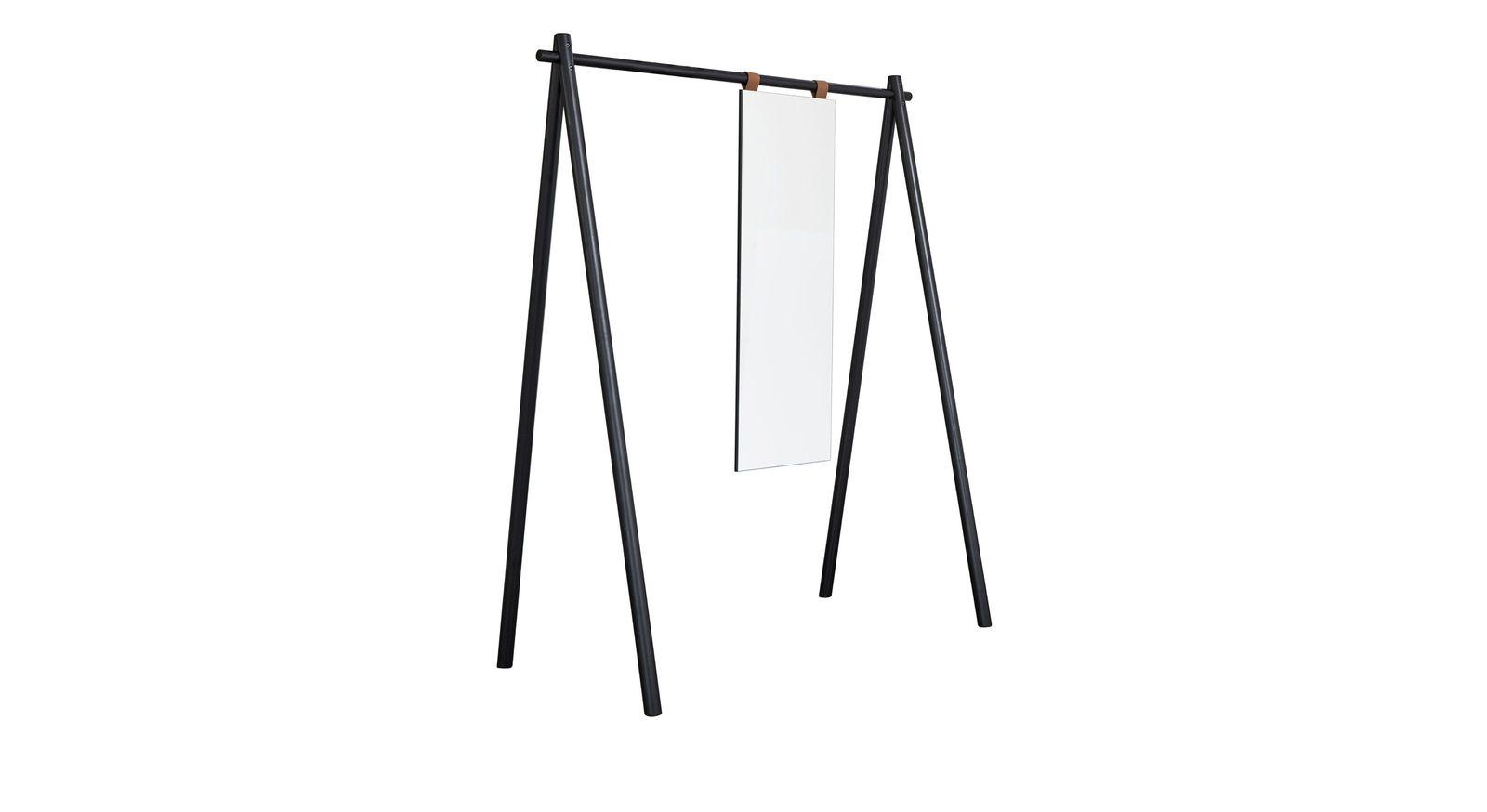 Garderobe Toffia aus Echtholz mit hohem Spiegel