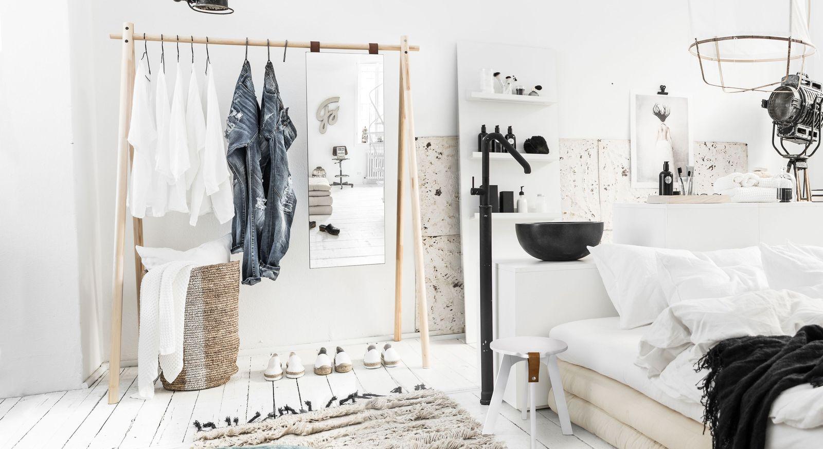 Garderobe Toffia im puristischem Stil