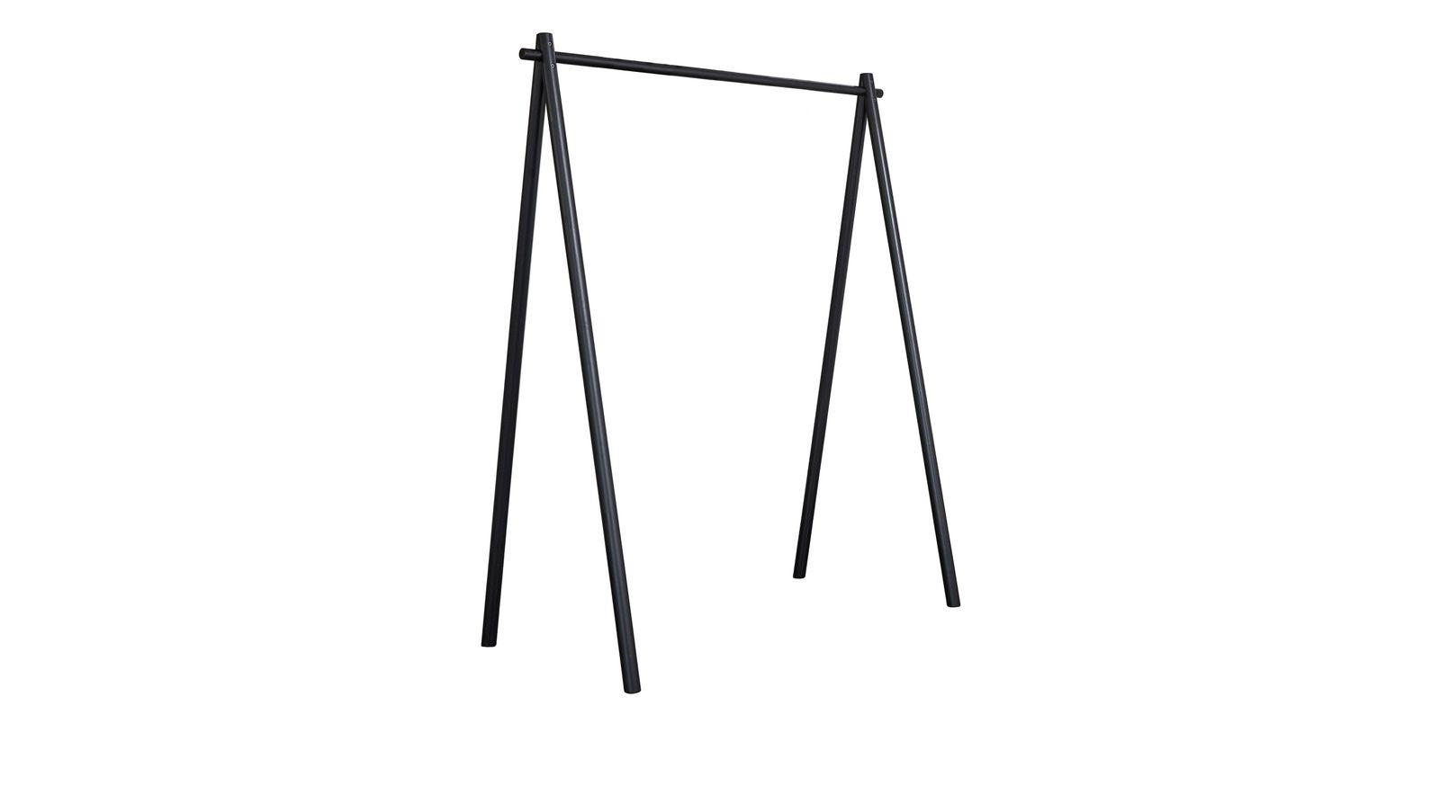Schlichte und moderne Garderobe Toffia in Schwarz