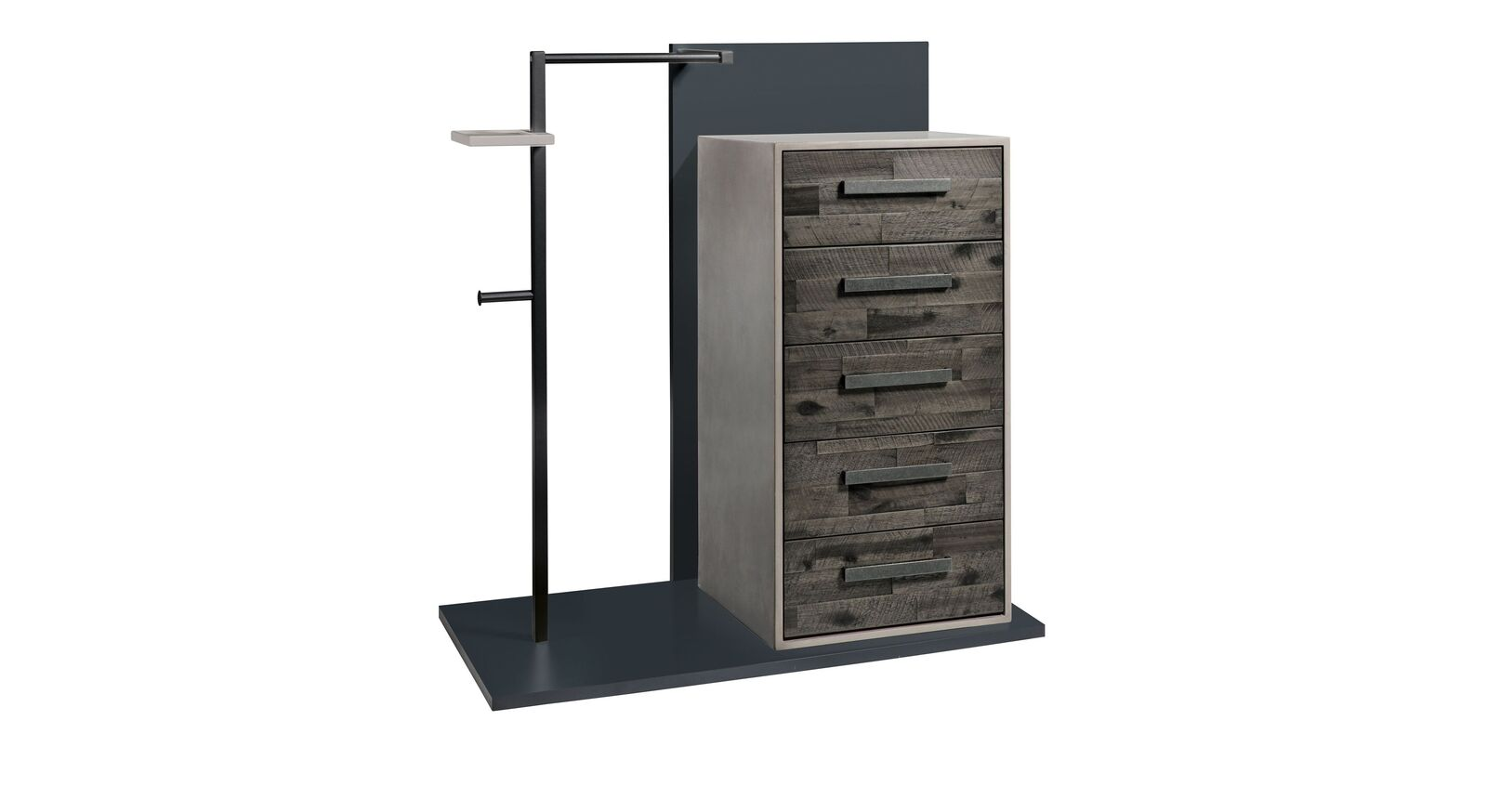 Garderoben-Kommode Envigado aus grauer Akazie