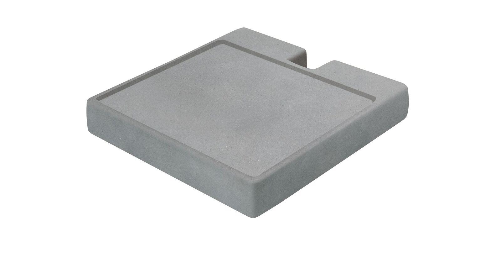 Garderoben-Kommode Envigado mit betonfarbiger Ablageplatte