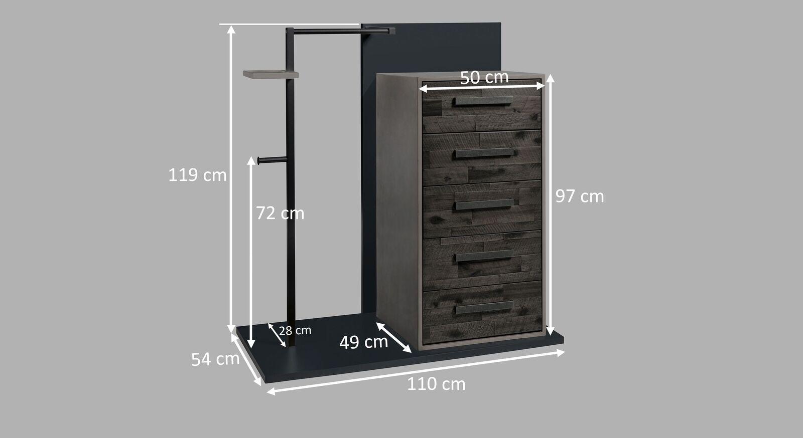 Grafik zur Garderoben-Kommode Envigado