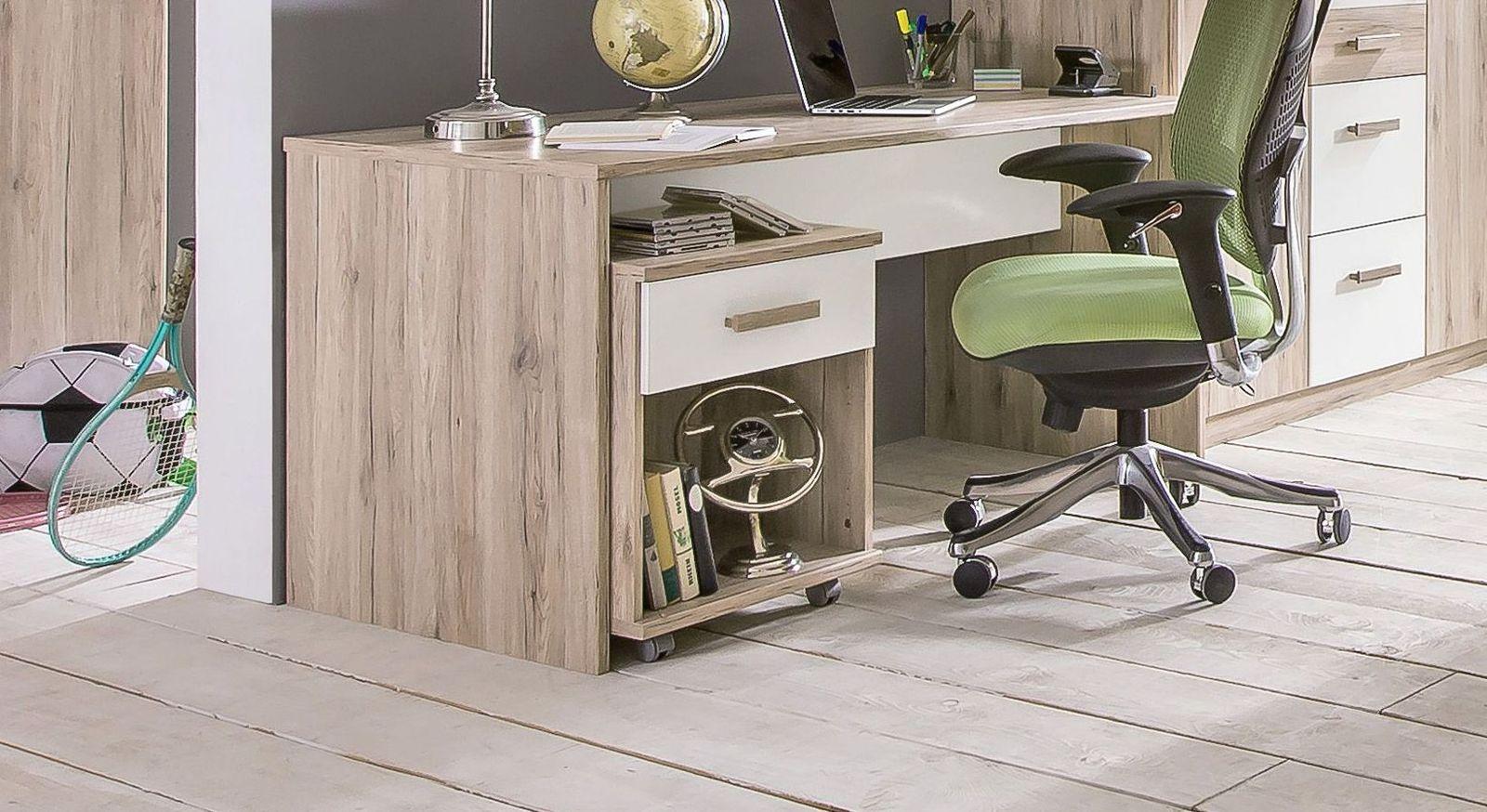 Geräumiger Schreibtisch Tropea für Kinderzimmer