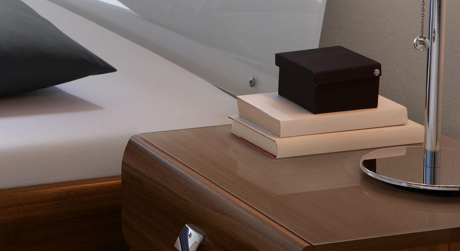 Glasplatte für Nachttisch und Kommode