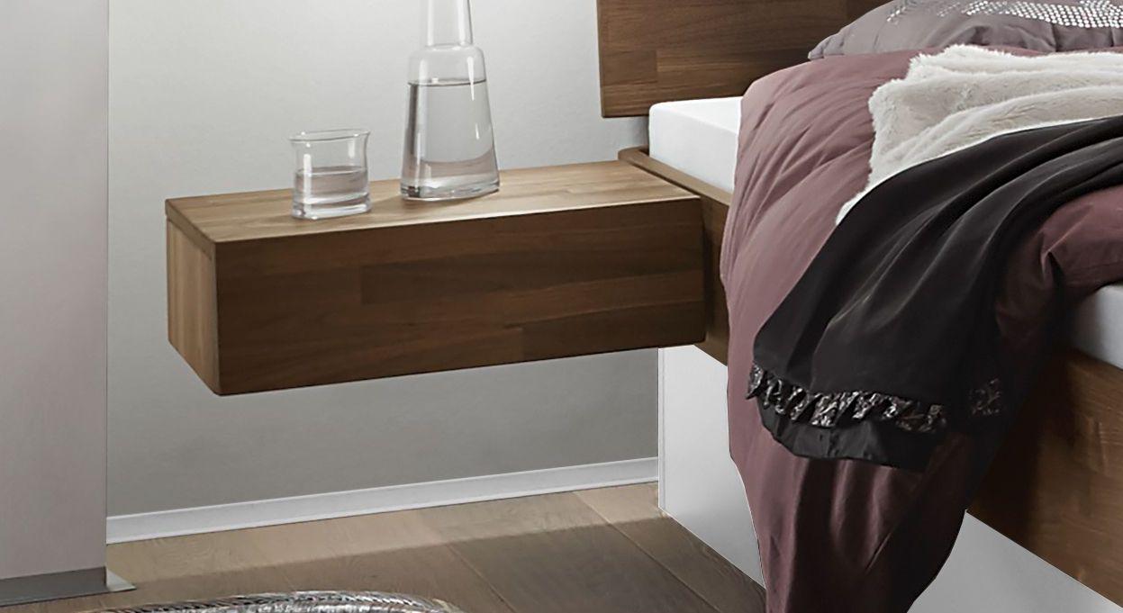 Praktischer Hänge-Nachttisch Tartu mit Schublade