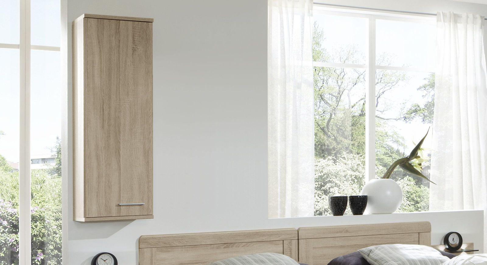 hoher wandschrank zum h ngen mit fachboden eiche dekor palmira. Black Bedroom Furniture Sets. Home Design Ideas